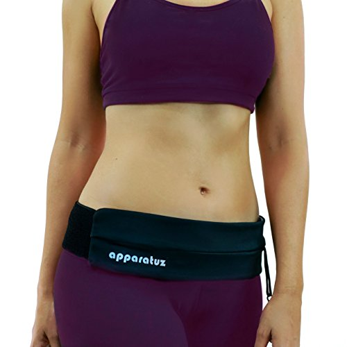 Running Belt - Best For iPhone 7 & Stylish Runners. Used as Discreet Fanny Pack or Hip Wallet, Perfect Cell Phone Holder. Comfortable Sweatproof Band. A Versatile Waist Pack To Wear. (Whos Here Today Chart)