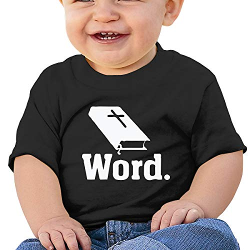 Mostico Nachill Christian Book Christian Word Newborn Baby Boy Girl Clothes Short Sleeve T-Shirt Clothes Outfits Black