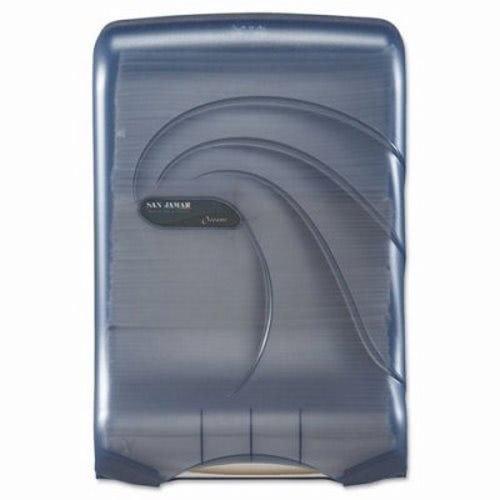 San Jamar T1790TBL Artic Blue Large Capacity Ultrafold Multifold/C-Fold Towel Dispenser