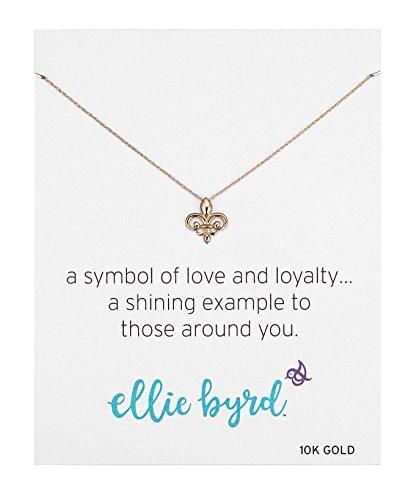 ellie byrd 10k Yellow Gold Fleur-de-Lis Necklace, 18