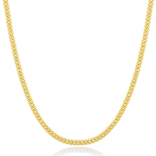 - Gelin 14k Real Gold 1.0 mm Light Open Curb Chain for Women and Men, 18 Inc
