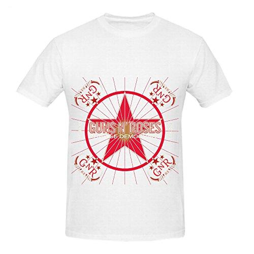 Chinese Democracy Guns N' Roses Funk Album Men Crew Neck Digital Printed Shirts - Candy Redfish