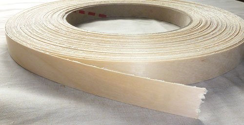 Pre Glued Iron on Birch Wood Veneer Edging Tape, 22mm x 50metres *Free Postage, Fast Dispatch*