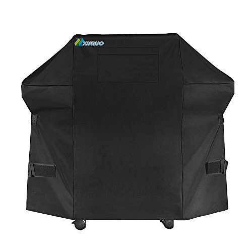 XUNUO 60 Inch 420D Grill Covers, Heavy Duty Waterproof Gas Grill Cover with a Pocket For Weber