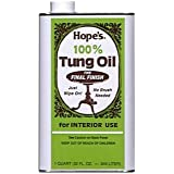 Hope's 100% Pure Tung Oil, Moisture Resistant Wood Finish for All Fine Woods, Furniture and Antiques – 32 Ounce