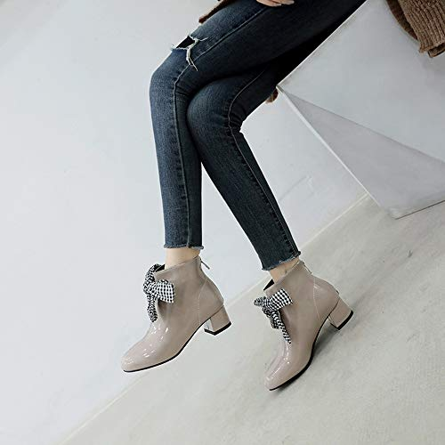 Boots Beige Shoes Fashion Women Ankle Melady Autumn Zipper wRX0SxqP