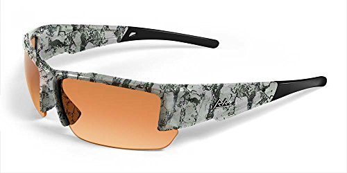 2017 Maxx Sunglasses TR90 Rough Rider #10 Snow Camo HD Amber - Camo Snow Sunglasses