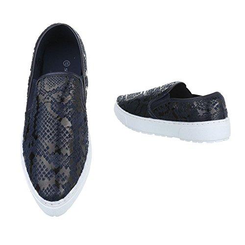 Ital-Design Women's Slippers Dark Blue N7JCDhBJef