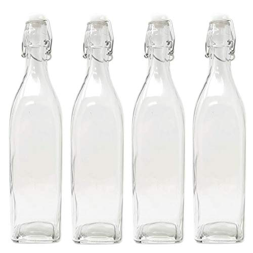 Set of 4 Large 33oz Italian Style Water Glass Bottle Swing Top
