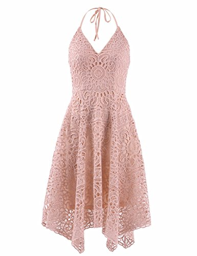 Ever-Pretty Fashion A-Line Lace Sleeveless Bridesmaids Dress For Women 12 US Pink