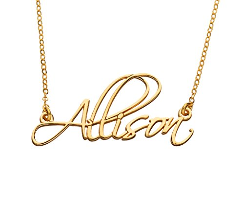 Personalized Name Necklace - 24k Gold Plate - Custom Made Any Name