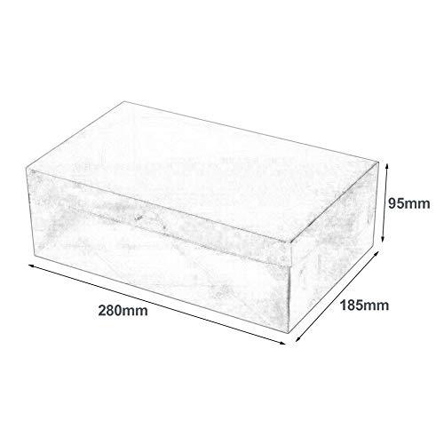 Blanco Cajas de Zapatos de pl/ástico PP Organizador de Almacenamiento Universal Apilable Ahorro de Espacio Flip Tipo Caj/ón Caja para Zapatillas Sandalias Calzado Deportivo