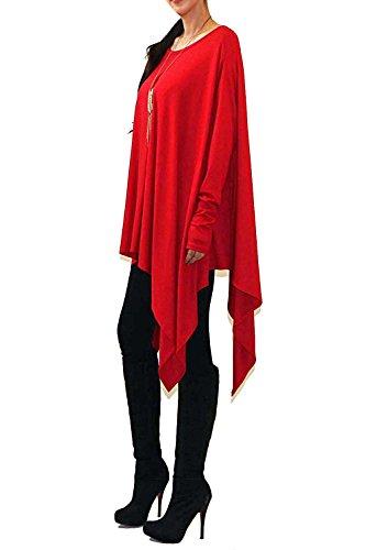 VIVICASTLE Women's USA Loose Bat Wing Dolman Poncho Tunic Dress Top