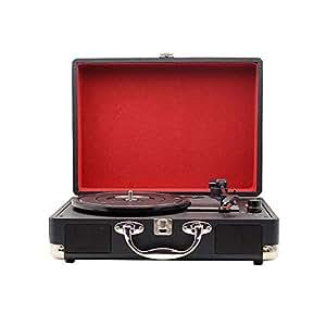 Amazon.com: DJG Reproductor de grabación Bluetooth, Vintage ...