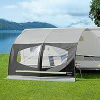 Berger Sonnenvordach Sigma Deluxe grau, schwarz Sichtschutz für Caravan und Wohnwagen L 335 x B 220 cm Anbauhöhe 240-255 cm