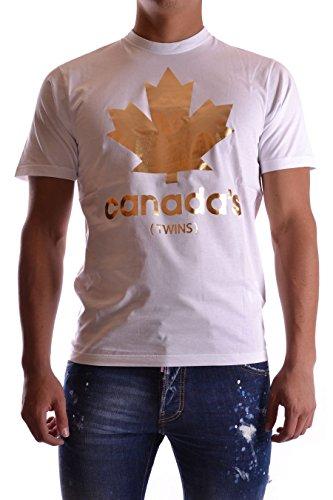 Dsquared2 Herren S74GD0015S22427100 Weiss Baumwolle T-Shirt