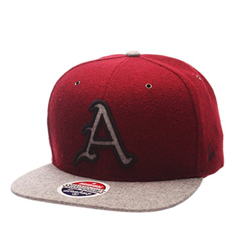 Zephyr NCAA Arkansas Razorbacks Adult Men's Executive Snapback Hat, Adjustable Size, Team Color/Gray Arkansas Razorbacks Ncaa Applique