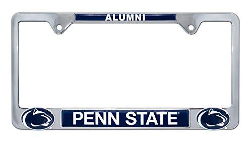 Premium All Metal NCAA Alumni License Plate Frame w/Dual 3D Logos (Penn ()