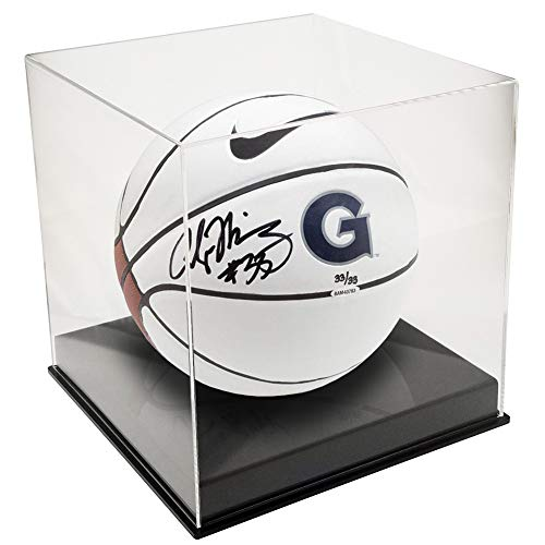 (OnDisplay Deluxe UV-Protected Basketball/Soccer Ball Display Case - Black Base)