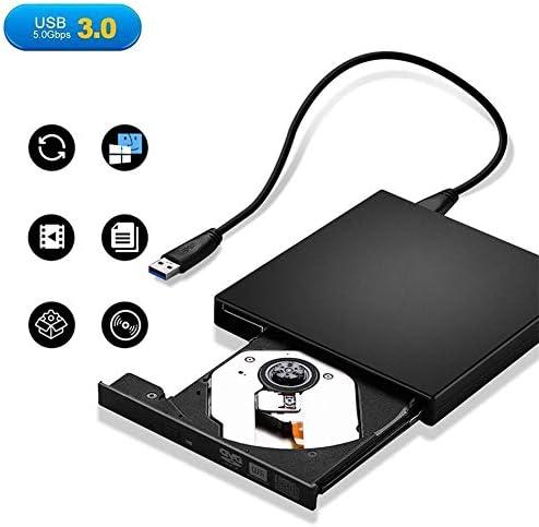 Lcxliga ラップトップポータブルスリムUSB 3.0 DVD CD R/RMレコーダーライターコピー機プレーヤーディスクDVDドライブプラグアンドプレイ用の外付けDVDドライブ