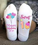 Sweet Sixteen Socks Happy Birthday Funny Girl Gifts Teenager