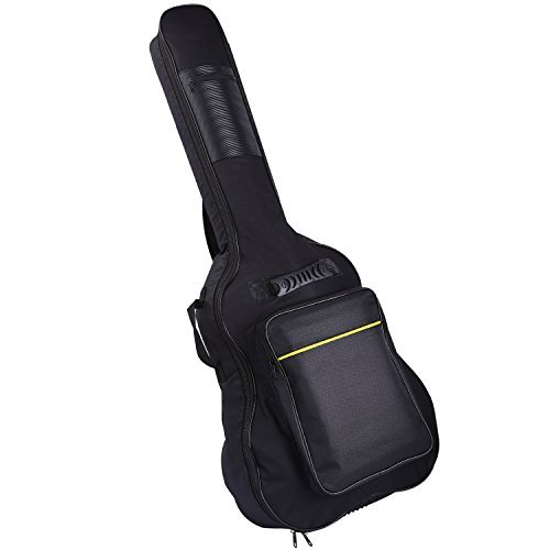 CAHAYA Guitar Bag Gig Bag Waterproof Oxford Cloth 40 inches with 5mm Thicken Sponge Black