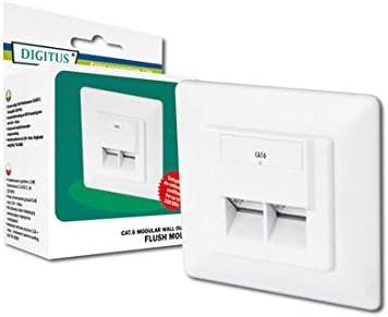DIGITUS Professional - Toma de pared red Cat 6 - DN-9005-N - 1 Gbit - Montaje empotrable - Instalación de cable horizontal: Amazon.es: Informática