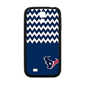 Blue and White Chevron Houston Texans logo Case Cover for Samsung Galaxy S4 I9500Case Cover Shell (Laser Technology) Kimberly Kurzendoerfer