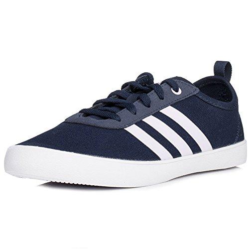 adidas QT Vulc 2.0, Sneakers Basses Femme Bleu (Collegiate Navy/aero Pink S18/ftwr Wht)