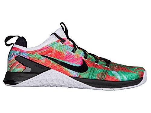 Nike Men's Metcon DSX Flyknit 2 WP White/Hyper Crimson/Black Nylon Cross-Trainers Shoes 7 D(M) US