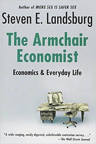 Armchair Economist Economics Everyday Life Steven E Landsburg