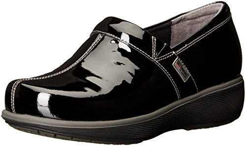 - SoftWalk Women's Meredith Clog, Black Patent, 9.0 W US