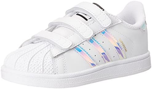 adidas Originals adidas Originals Kids' Superstar, WhiteWhiteMetallic Silver, 4 M US Big Kid from Amazon | Shop