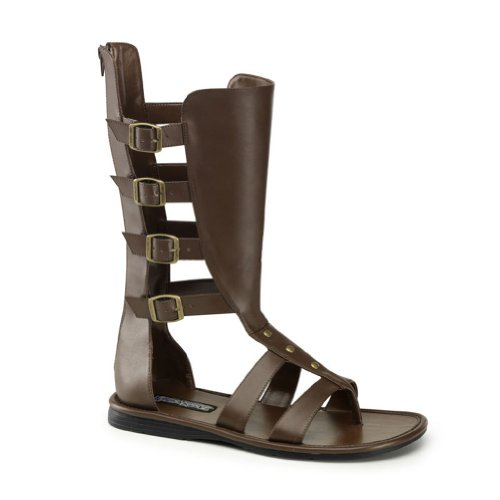 MENS SIZING Gladiator Costume Boots Open Toe Sandal Style Shoes Size: Small