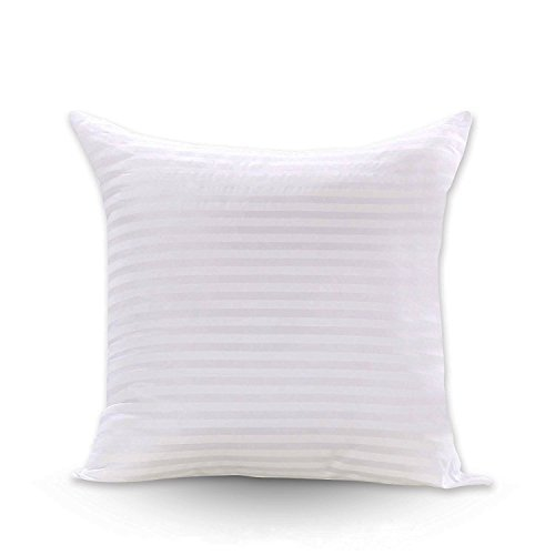 Review FabricMCC Square Pillow Inserts 18x18, Poly White Sham Hypoallergenic Stuffer Pillow Insert S...