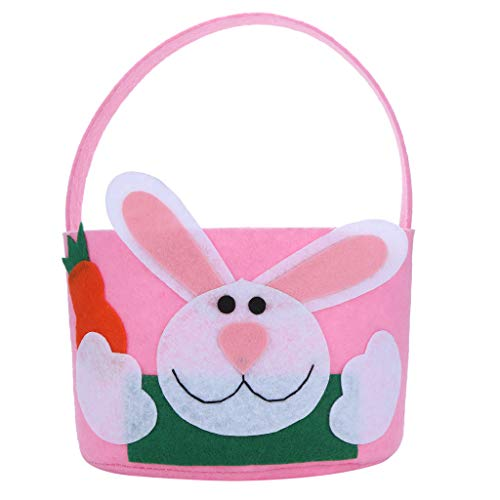 Sunyastor Easter Gift Bag Cotton Cloth Bag Gift Bag Bunny Ears Design Easter Basket Tote Blank Bag for Party Rabbit Candy Bag Creative Present Home Accessory]()