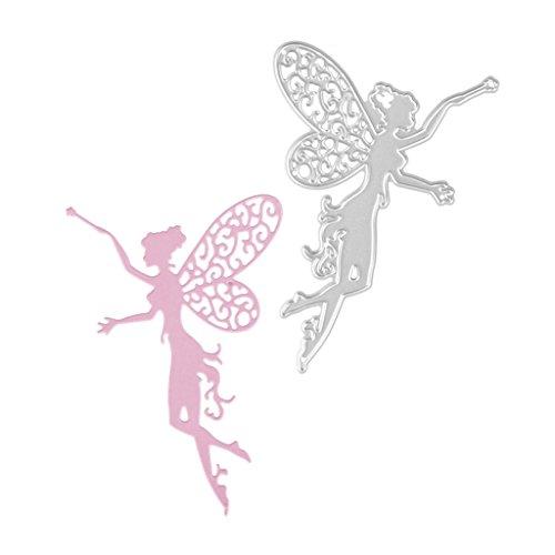 Kalttoyi Flower Fairy Girl Metal Cutting Dies Stencil Scrapbooking Embossing Craft Card
