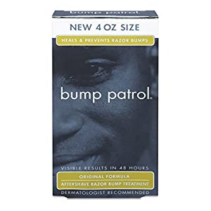 Bump Patrol Dermatologist Recommended Original Formula Aftershave Razor Burn Ingrown Hair And Razor Burns Treatment (4 oz) from M&M Products