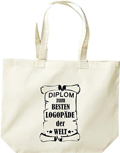 Shirtstown große Bolsa de compra, Diploma a la besten Logopäde der Welt Natural