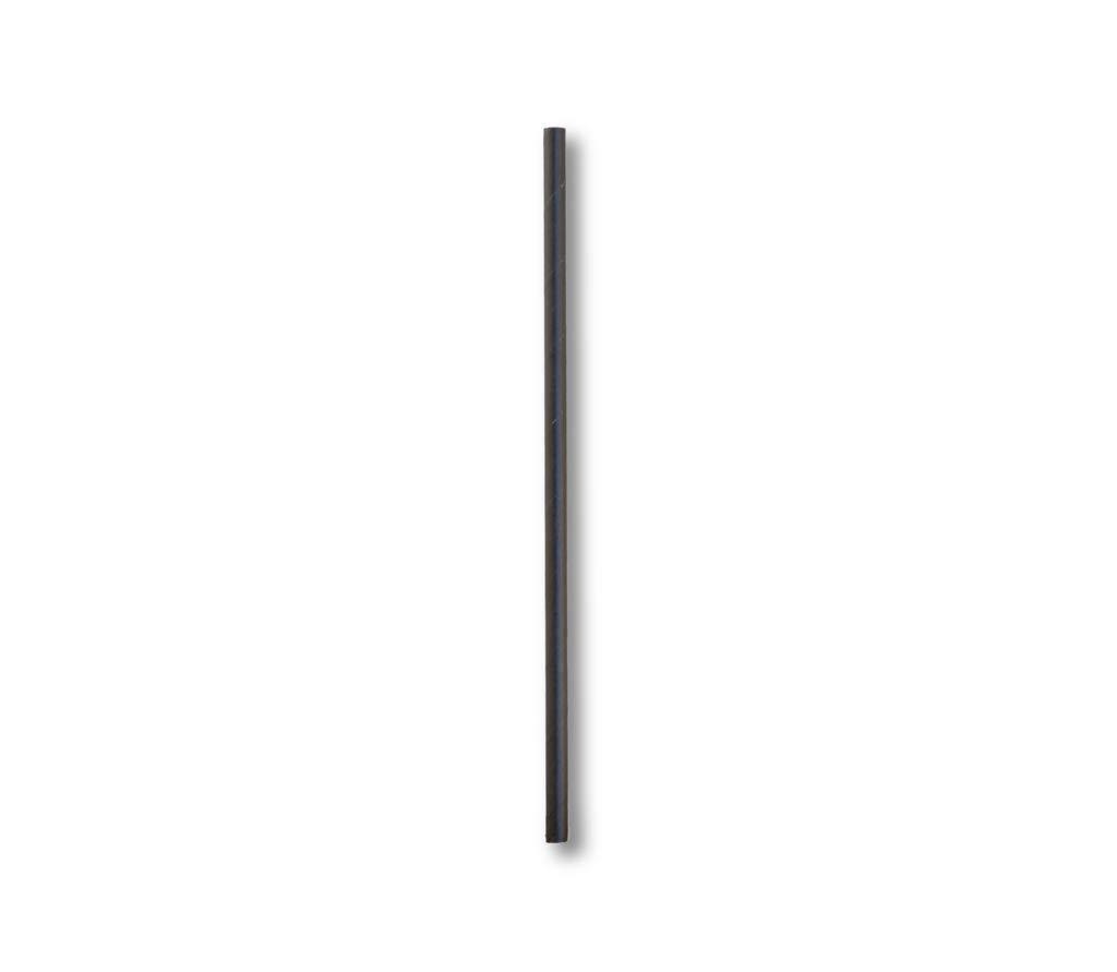 Aardvark Black Bar Stir Stick Unwrapped 5.75'' Paper Bar Stir Sticks