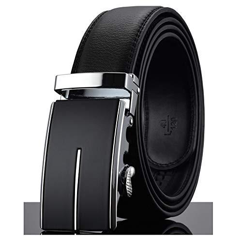 (Designer Automatic Buckle Cowhide Leather Belt Luxury Belts For Men Ceinture Homme)