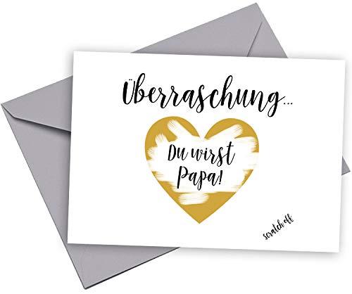 Sorpresa carta personalizzato du Wirst Papa regalo sono incinta Baby Happy Wedding Art