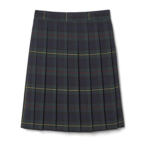 French Toast Plus Girls Pleated Skirt, Green Plaid,