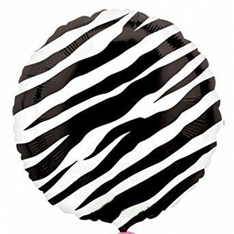 Zebra Mylar Balloon - 6