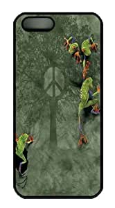 For SamSung Galaxy S5 Mini Phone Case Cover -Peace Tree Frog PC Hard Plastic For SamSung Galaxy S5 Mini Phone Case Cover Black