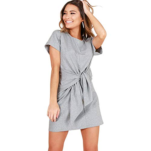 ALAIX Women's Bandage Elegant Short Sleeve Wear to Work Casual Pencil ()
