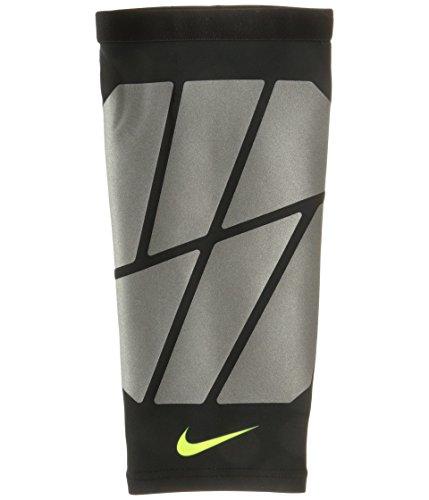 NIKE Pro Vapor Leg Slider,L/X-Large(Black/Silver/Volt)