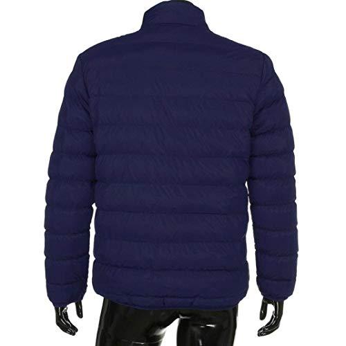 Alto Imbottita Giacca Cappotto Cerniera Collo Sportiva Da Lunga Manica Chic Con Blau Leggera Piumino Uomo Capispalla qtxgwz