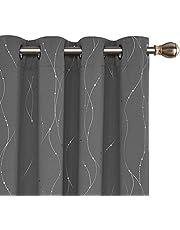 Deconovo Tende Oscuranti Termiche Isolanti con Stampa Tende Camera da Letto per Finestre Interni