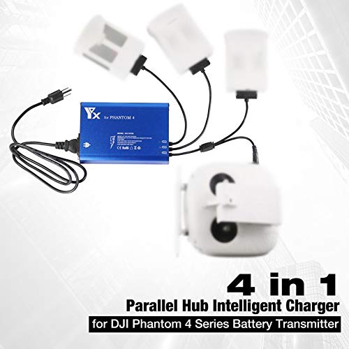 Wikiwand 4 in 1 Parallel Hub Intelligent Battery Charger for Phantom 4 RC Drone